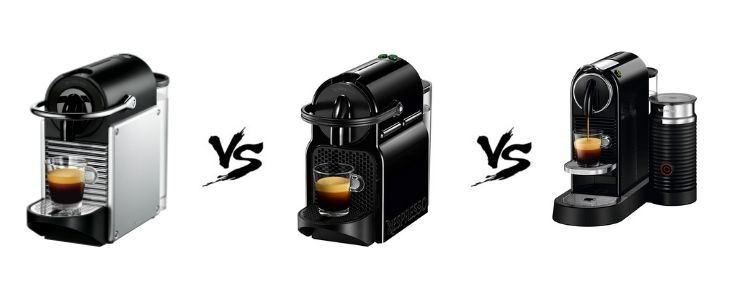 Picture of Nespresso Coffee Machines with vs in between