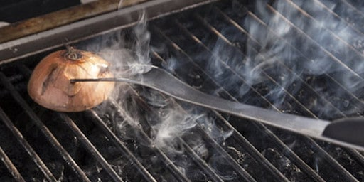 How To Clean Grill Grates - Using a grill stone